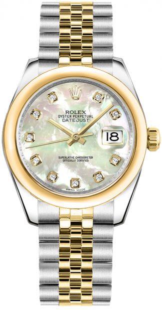replique Rolex Datejust 31 nacre montre cadran diamant 178243