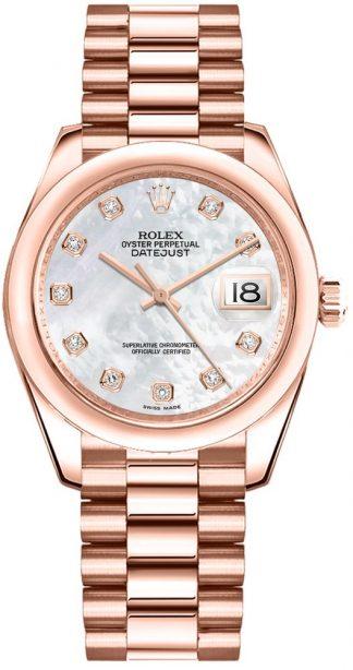 replique Rolex Datejust 31 nacre montre cadran diamant 178245