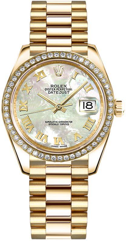 replique Rolex Datejust 31 nacre montre en or 178288