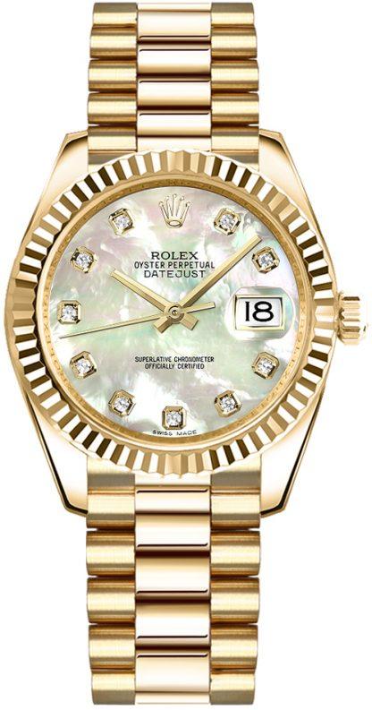 replique Rolex Datejust 31 nacre montre en or diamant 178278