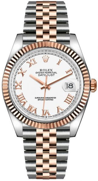 replique Rolex Datejust 36 18k Everose Gold & Oystersteel Men's Watch 126231