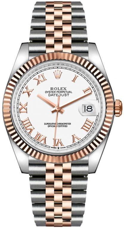 replique Rolex Datejust 36 18k Everose Gold & Oystersteel Men's Watch 126231