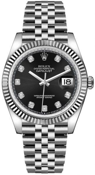 replique Rolex Datejust 36 Black Dial Diamond Luxury Watch 126234