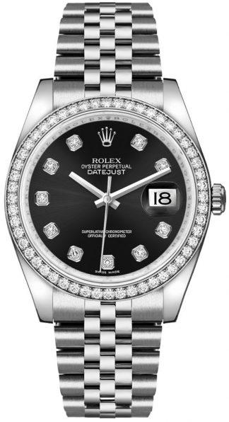 replique Rolex Datejust 36 Black Diamond Dial Montre 116244