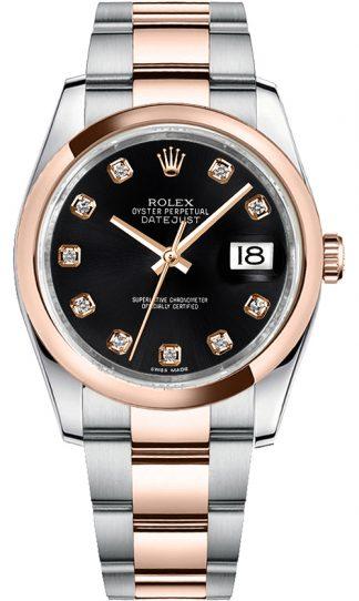 replique Rolex Datejust 36 Black Diamond Dial Montre homme 116201