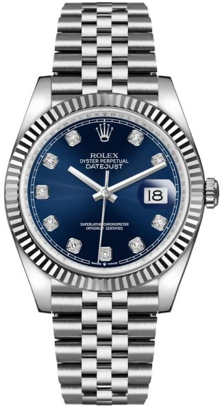 replique Rolex Datejust 36 Blue Dial Oystersteel Men's Watch 126234