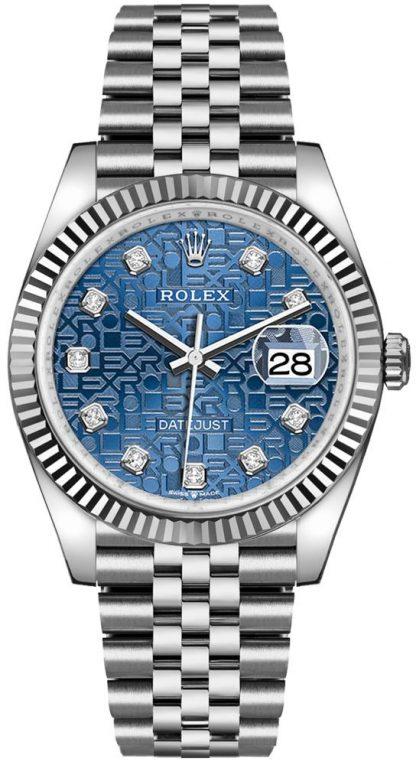 replique Rolex Datejust 36 Blue Jubilee Bracelet Men's Watch 126234