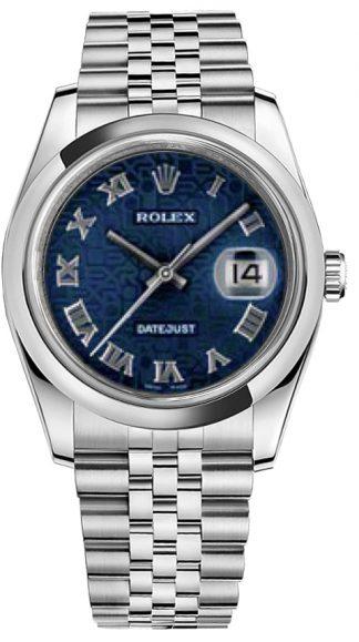 replique Rolex Datejust 36 Blue Jubilee Dial Montre 116200