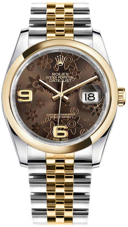 replique Rolex Datejust 36 Bronze Floral Jubilee Bracelet Watch 116203