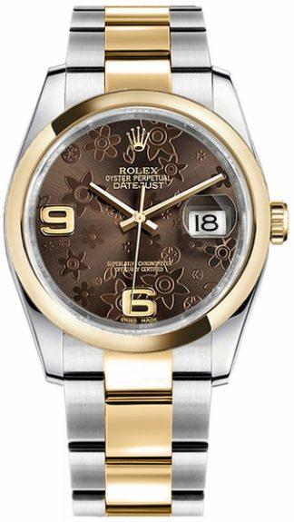 replique Rolex Datejust 36 Bronze cadran floral Watch 116203