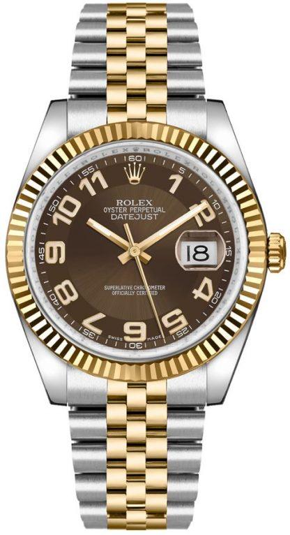 replique Rolex Datejust 36 Brown Dial Montre 116233