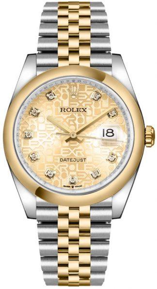 replique Rolex Datejust 36 Champagne Jubilee Dial Men's Watch 126203