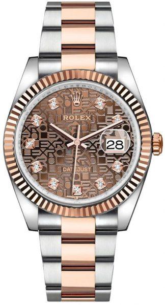 replique Rolex Datejust 36 Chocolate Jubilee Dial Men's Watch 126231