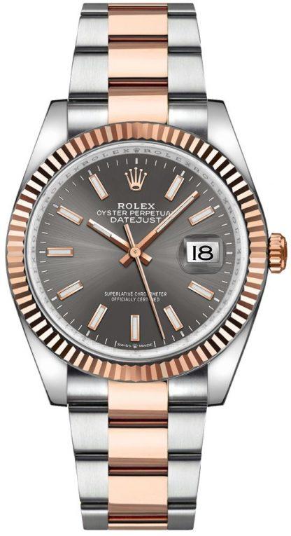 replique Rolex Datejust 36 Dark Rhodium Dial Oyster Bracelet Men's Watch 126231