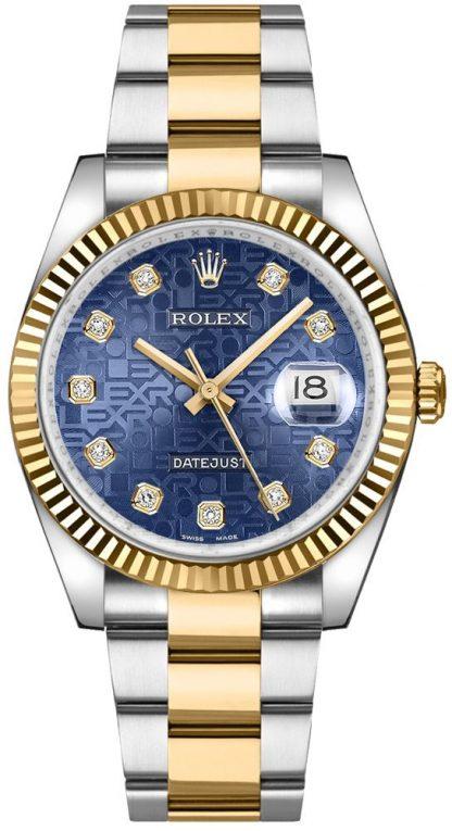 replique Rolex Datejust 36 Diamond Blue Jubilee Dial Montre 116233