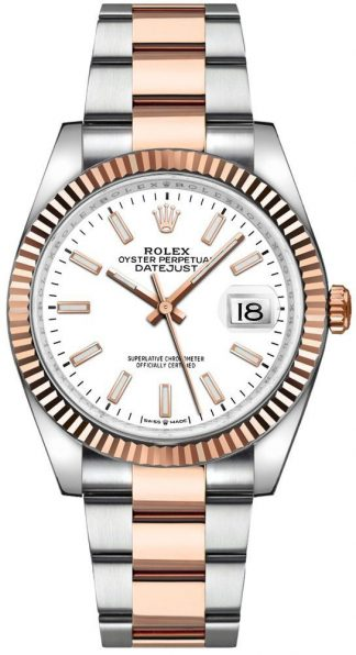 replique Rolex Datejust 36 Index Hour Markers Two Tone Men's Watch 126231