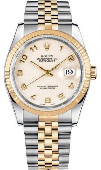 replique Rolex Datejust 36 Ivory Dial Montre 116233