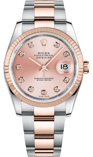 replique Rolex Datejust 36 - Montre à cadran en diamant rose 116231