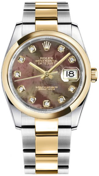replique Rolex Datejust 36 Montre automatique en or et acier 116203
