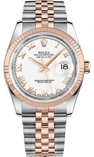 replique Rolex Datejust 36 - Montre bracelet jubilé avec chiffres romains blancs 116231