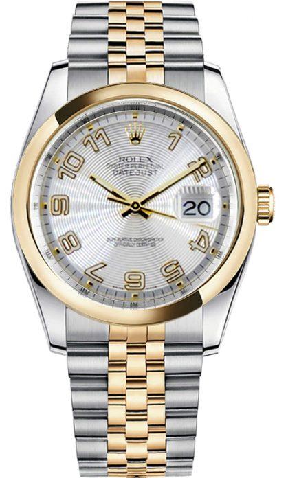 replique Rolex Datejust 36 - Montre lunette bombée en or jaune 116203