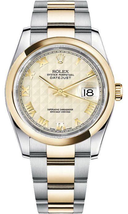 replique Rolex Datejust 36 - Montre lunette en or jaune 116203