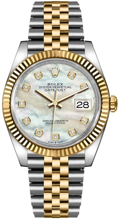 replique Rolex Datejust 36 Mother of Pearl Diamond Dial Watch 126233