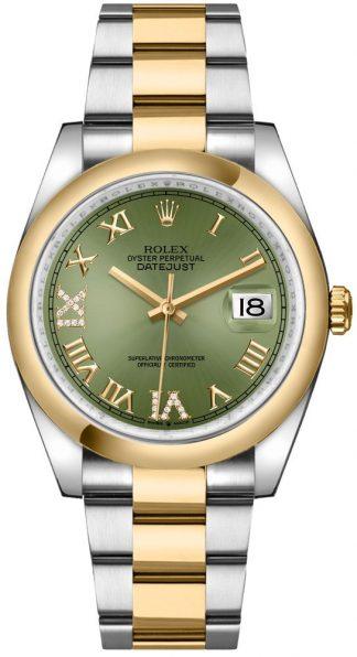 replique Rolex Datejust 36 Olive Green Dial Oyster Bracelet Men's Watch 126203