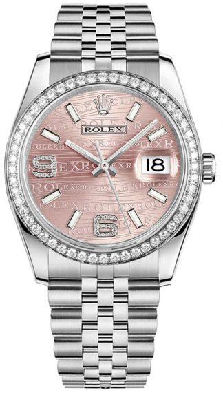 replique Rolex Datejust 36 Pink Diamond Dial Montre pour femme 116244