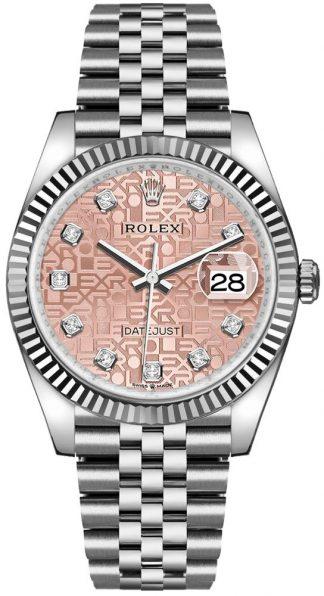 replique Rolex Datejust 36 Pink Jubilee Dial Women's Watch 126234