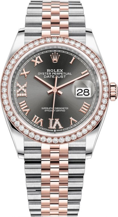 replique Rolex Datejust 36 Roman Numeral Diamond Jubilee Women's Watch 126281RBR