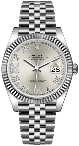 replique Rolex Datejust 36 Silver Dial Jubilee Bracelet Men's Watch 126234