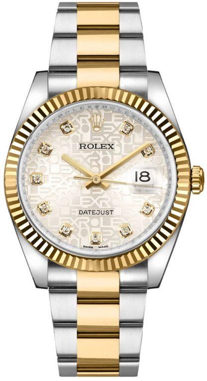 replique Rolex Datejust 36 Silver Diamond Dial Oyster Bracelet Montre 116233