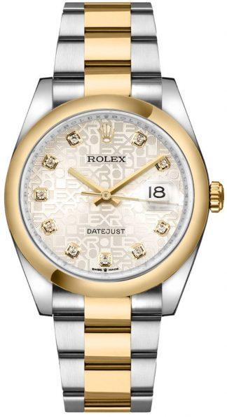 replique Rolex Datejust 36 Silver Jubilee Dial Diamonds Men's Watch 126203