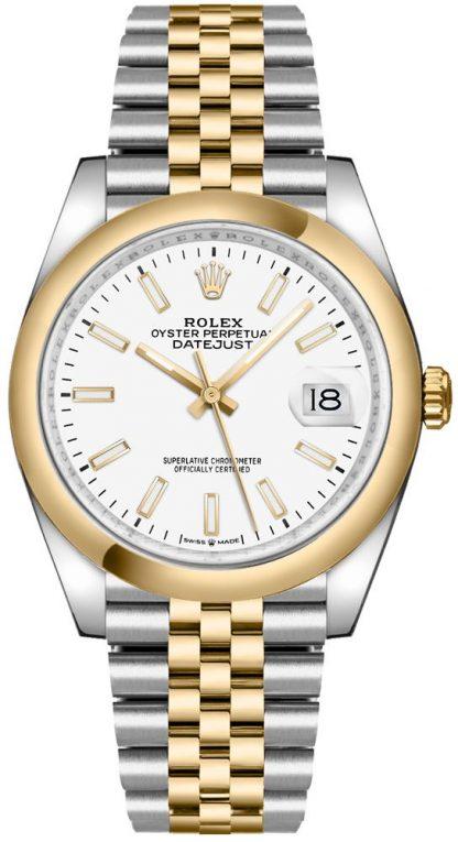 replique Rolex Datejust 36 White Dial Jubilee Bracelet Men's Watch 126203