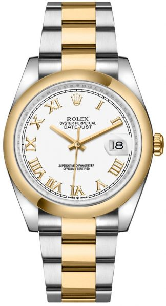 replique Rolex Datejust 36 White Dial Roman Numerals Men's Watch 126203