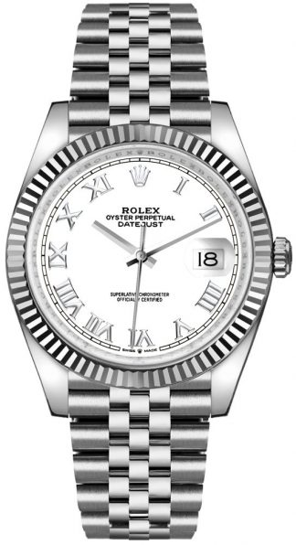 replique Rolex Datejust 36 White Dial Roman Numerals Men's Watch 126234