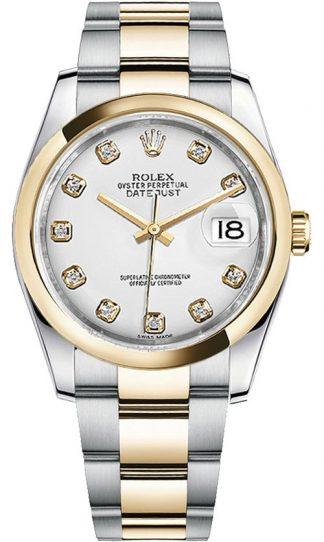 replique Rolex Datejust 36 White Diamond Dial Montre 116203