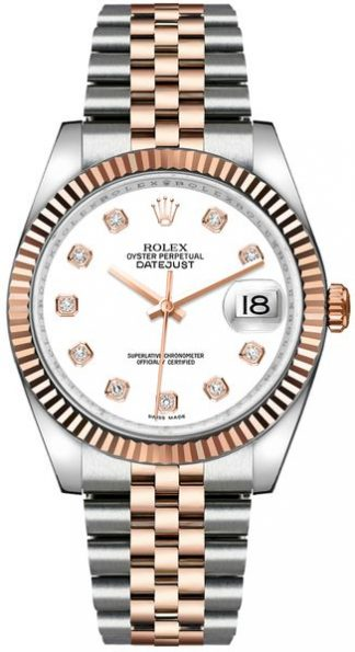 replique Rolex Datejust 36 White Diamond Dial Montre 116231