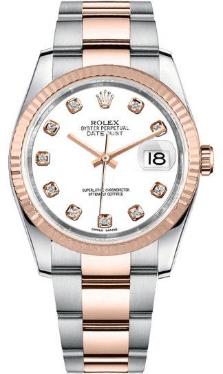 replique Rolex Datejust 36 White Diamond Dial Montre homme 116231