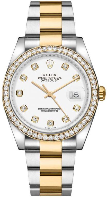 replique Rolex Datejust 36 White Diamond Watch 116243