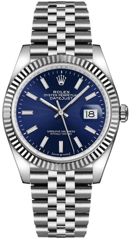 replique Rolex Datejust 36 White Gold Fluted Bezel Men's Watch 126234