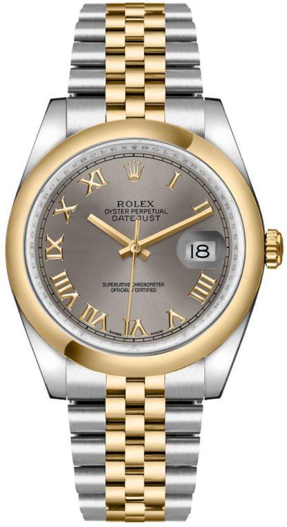replique Rolex Datejust 36 acier cadran chiffre romain Montre 116203