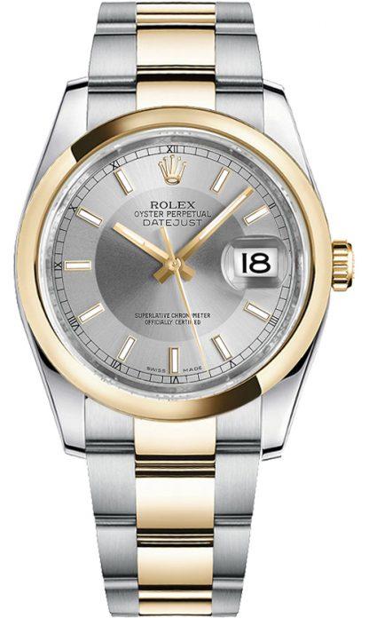 replique Rolex Datejust 36 acier et cadran argenté Montre 116203