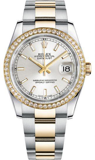 replique Rolex Datejust 36 cadran argenté Montre 116243