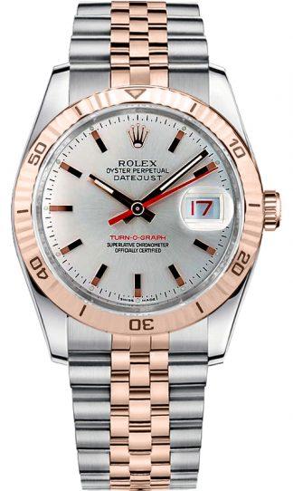 replique Rolex Datejust 36 cadran argenté Montre 116261