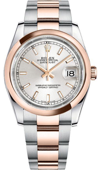 replique Rolex Datejust 36 cadran argenté Oyster Bracelet Watch 116201