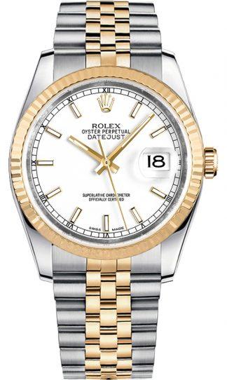 replique Rolex Datejust 36 cadran blanc Jubilee Bracelet montre 116233