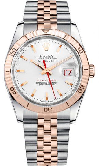 replique Rolex Datejust 36 cadran blanc Montre 116261