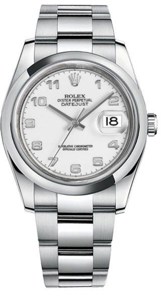 replique Rolex Datejust 36 cadran blanc Montre automatique 116200